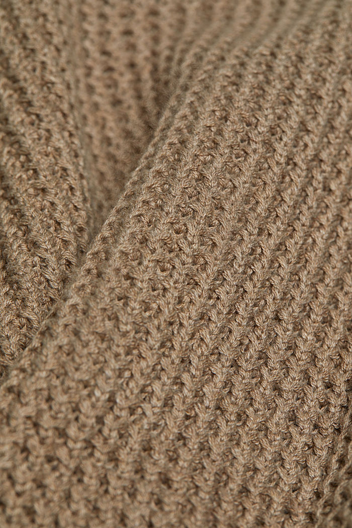 Jumper made of 100% organic cotton, TAUPE, detail image number 4