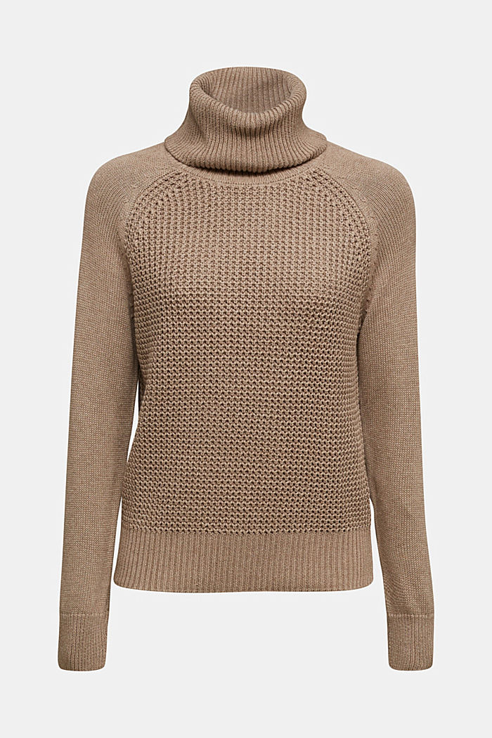 Jumper made of 100% organic cotton, TAUPE, detail image number 6