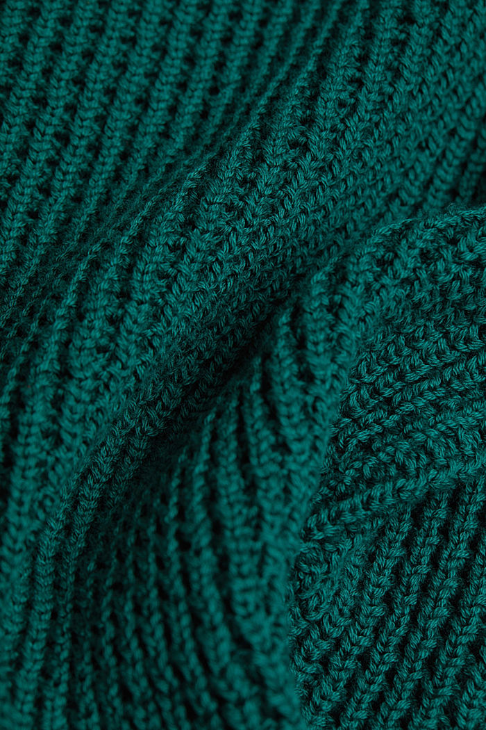 Jumper made of 100% organic cotton, DARK TEAL GREEN, detail image number 4