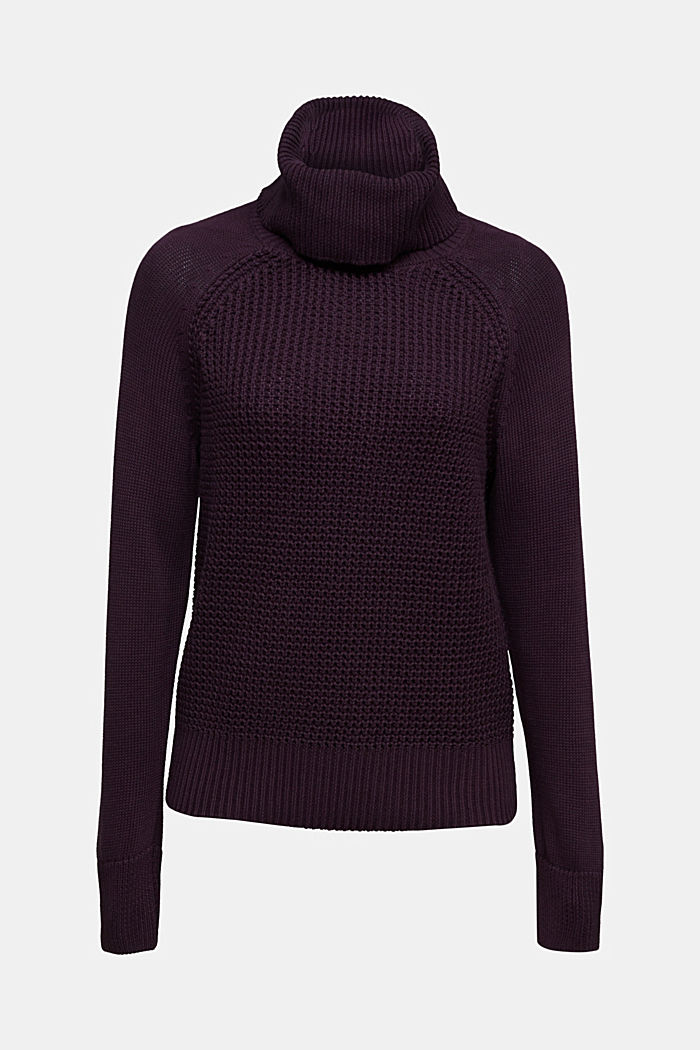 Jumper made of 100% organic cotton, AUBERGINE, detail image number 7