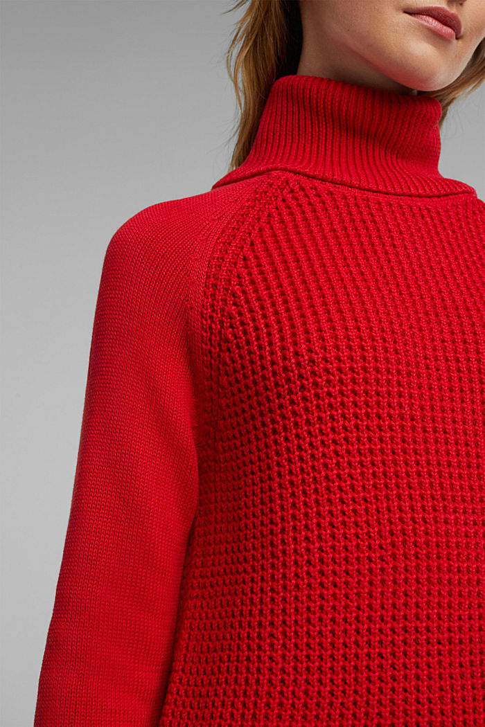 Jumper made of 100% organic cotton, RED, detail image number 2