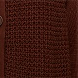 Cotton blend cardigan, BROWN, swatch