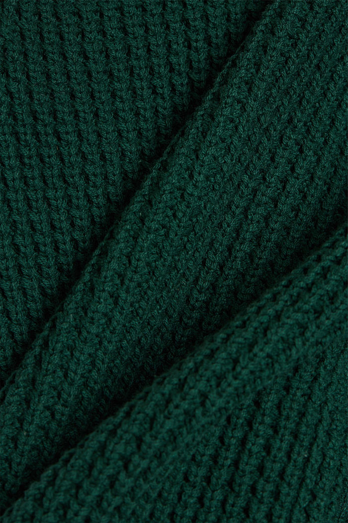 Strick-Cardigan aus Baumwoll-Mix, DARK TEAL GREEN, detail image number 4