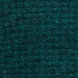 With wool/alpaca: Chunky knit polo neck, DARK TEAL GREEN, swatch