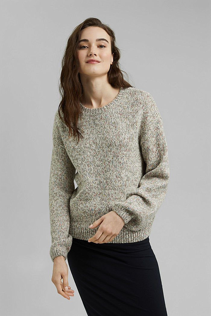 Moulinè-Pullover aus Baumwoll-Mix