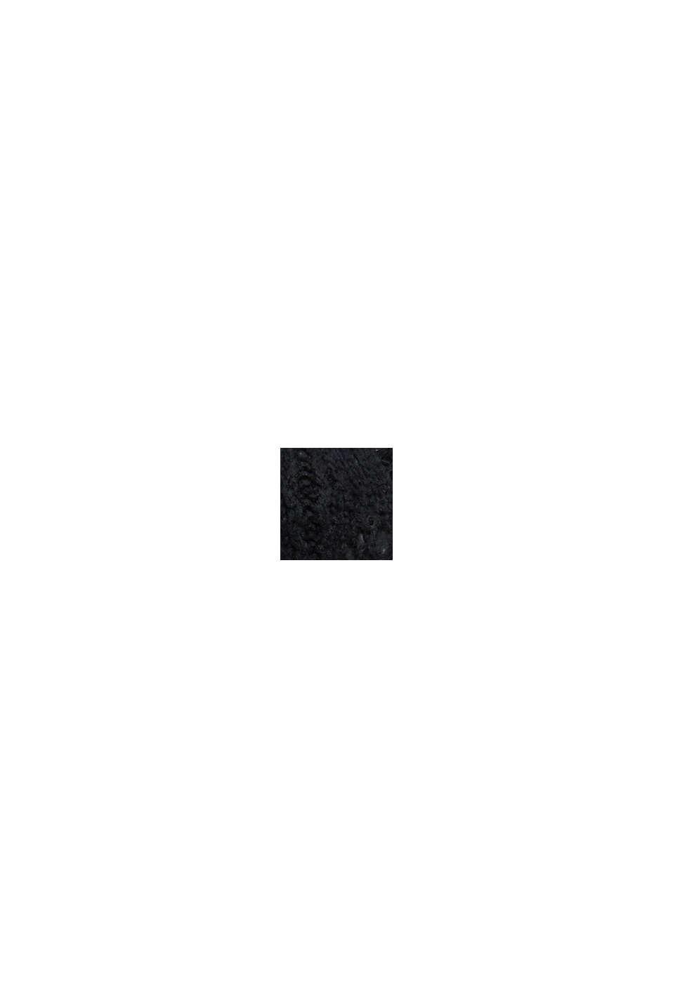 À teneur en laine: le pull-over en maille pointelle, BLACK, swatch