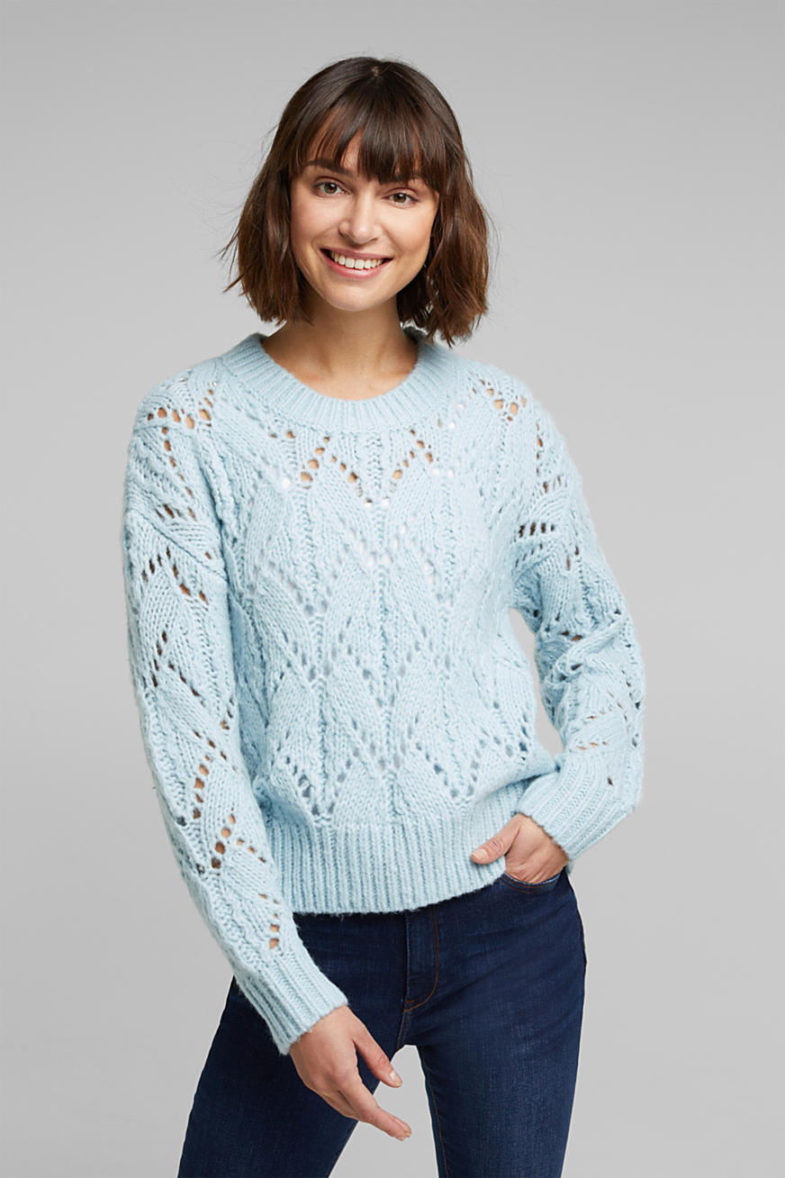Mit Wolle: Pointelle-Pullover