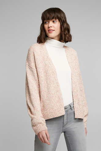 Mouliné cardigan made of blended cotton