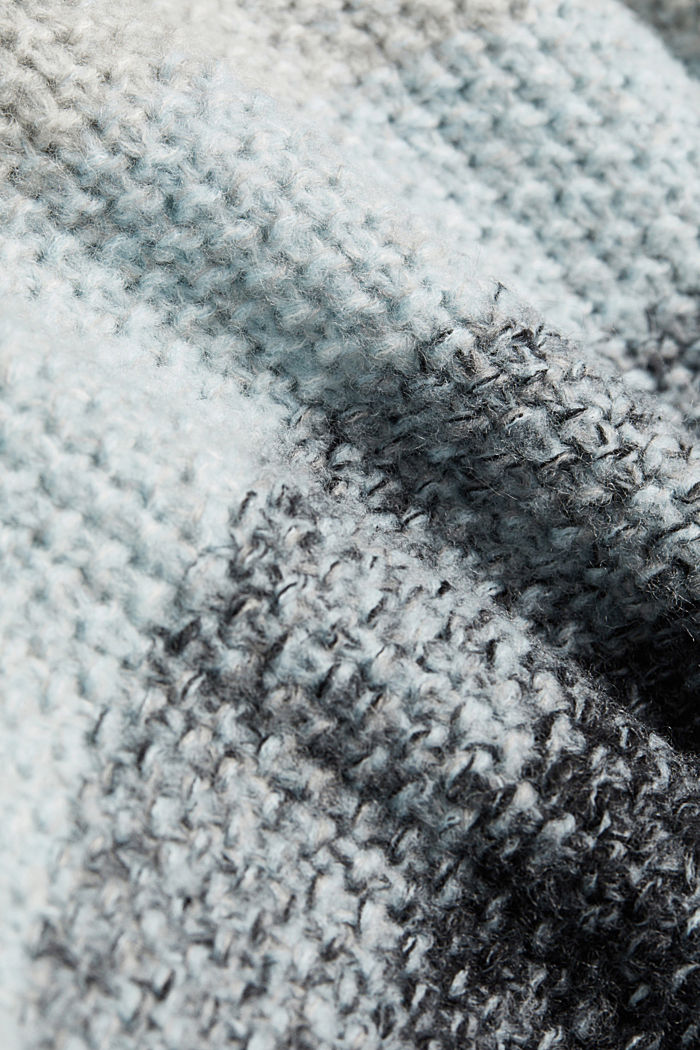 Mit Wolle: gestreifter Grobstrick-Pullover, PASTEL BLUE, detail image number 4