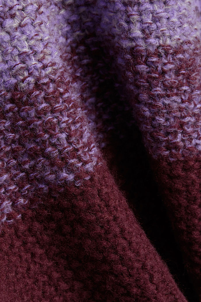 With wool: striped chunky knit jumper, LILAC, detail image number 4