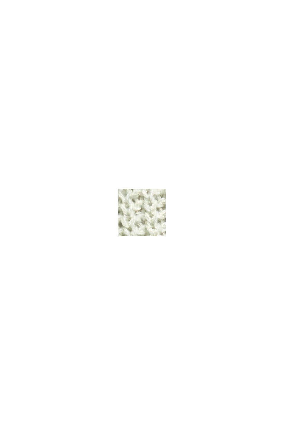 Mouline-Pullover aus Baumwoll-Mix, LIGHT GREEN, swatch