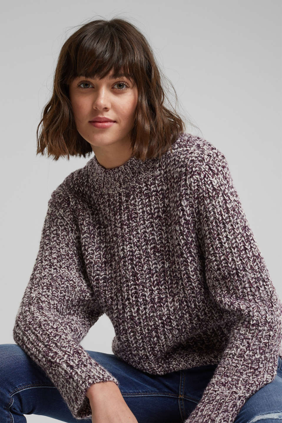 edc - Mouliné jumper made of blended cotton