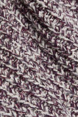 Mouliné jumper made of blended cotton, AUBERGINE 2, detail