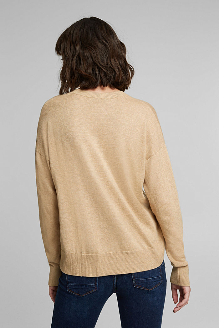 Jumper with organic cotton, BEIGE, detail image number 3