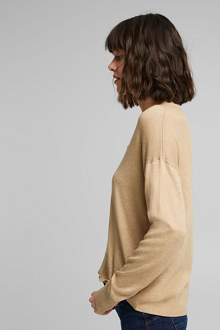 Jumper with organic cotton, BEIGE, detail image number 5