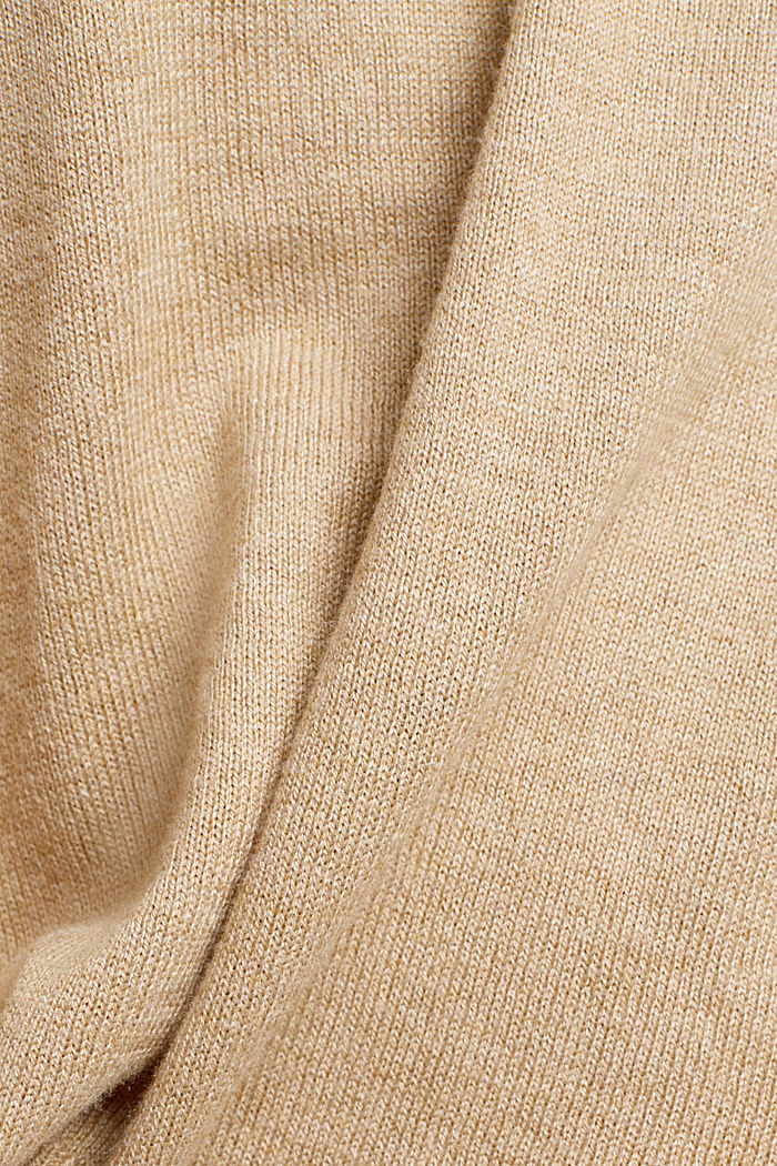 Jumper with organic cotton, BEIGE, detail image number 4