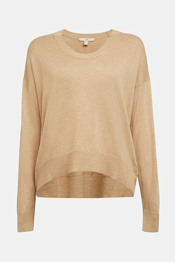 Jumper with organic cotton, BEIGE, detail image number 6