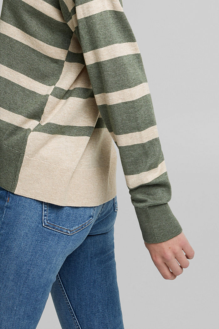 Jumper with organic cotton, KHAKI GREEN, detail image number 2