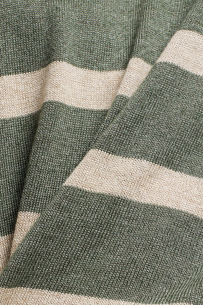 Jumper with organic cotton, KHAKI GREEN, detail image number 4
