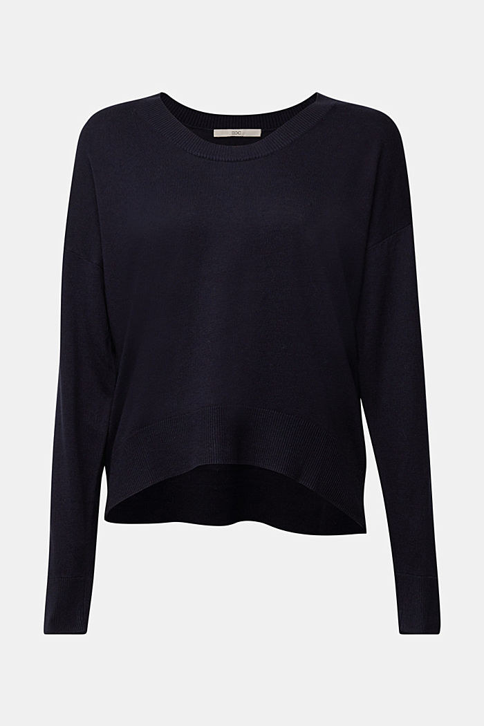 Jumper with organic cotton, NAVY, detail image number 7