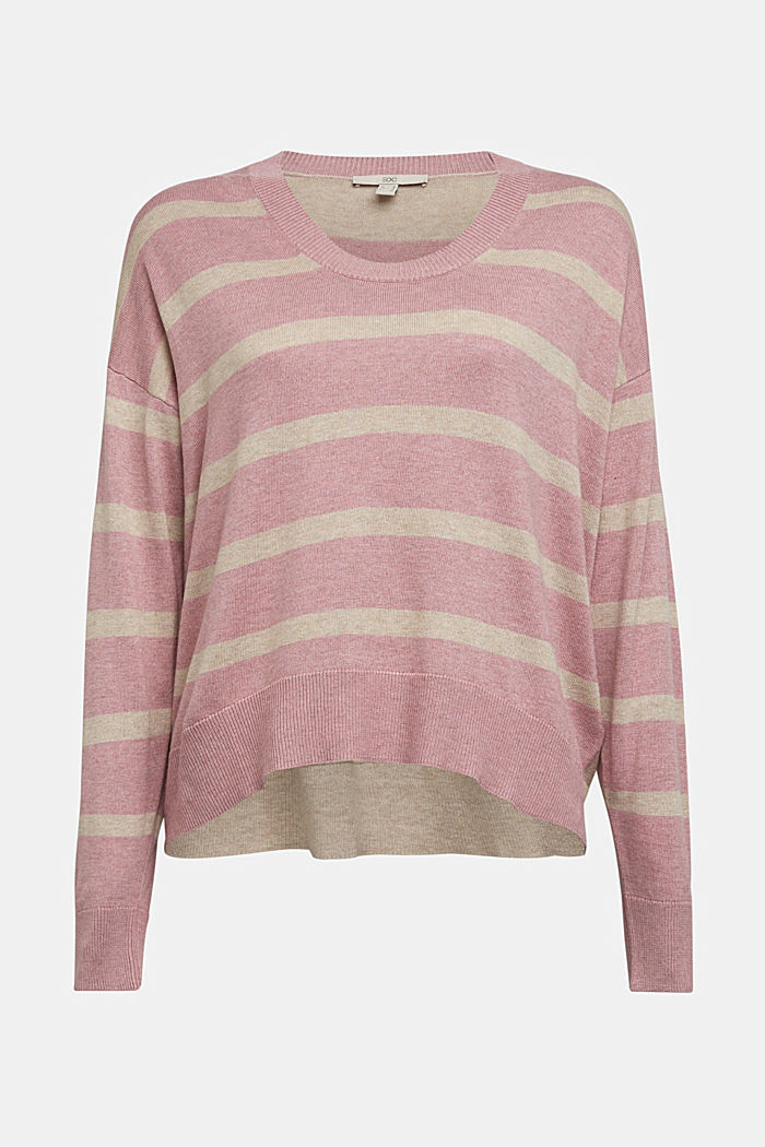Jumper with organic cotton, MAUVE, detail image number 5