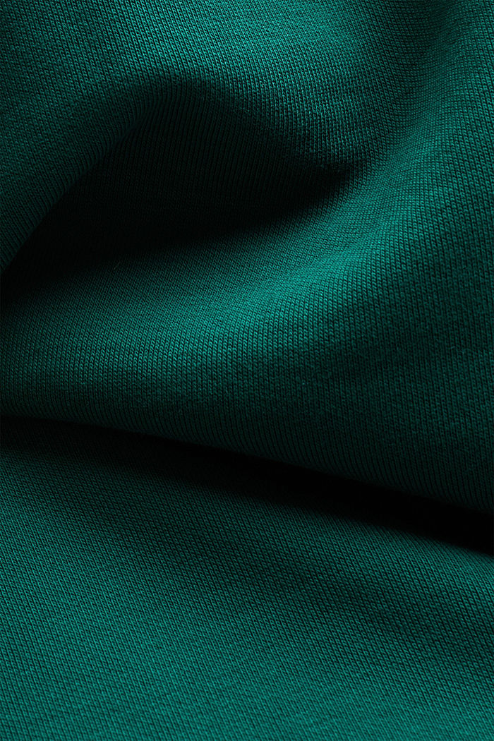 Recycled: hoodie containing organic cotton, DARK TEAL GREEN, detail image number 4