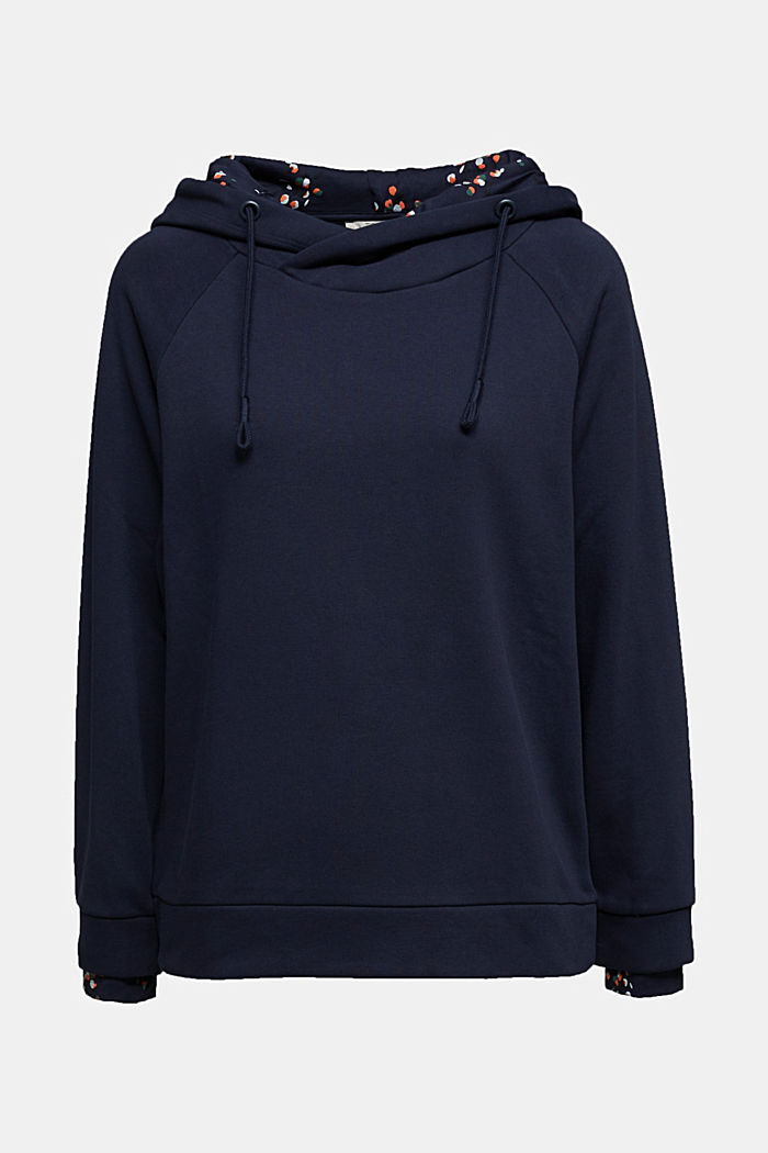 Recycled: hoodie containing organic cotton, NAVY, detail image number 6