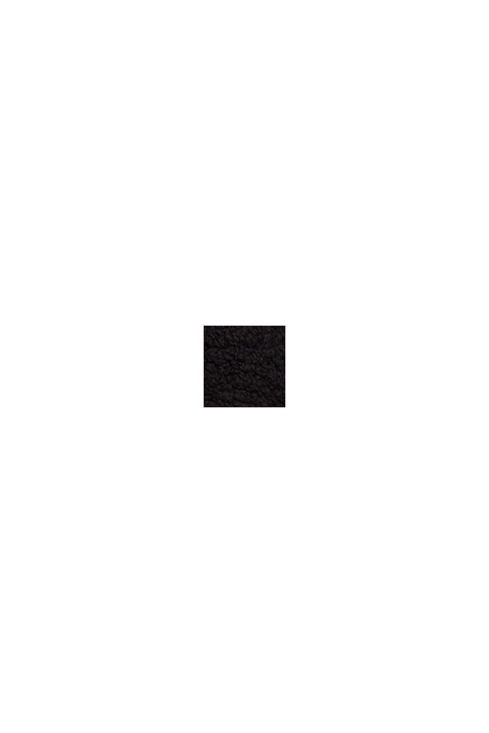 Recycelt: Hoodie aus Teddy-Fell, BLACK, swatch