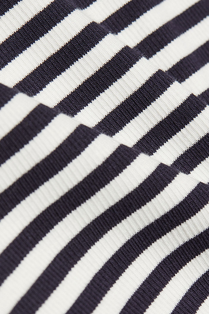 Long sleeve top with organic cotton, NAVY, detail image number 4