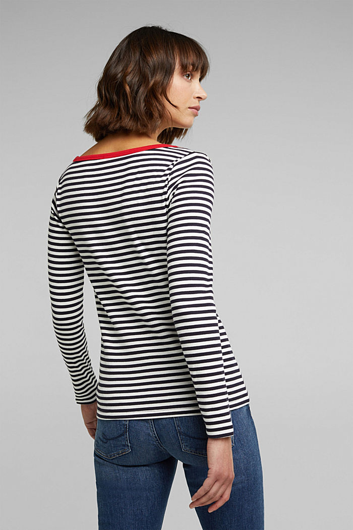 Long sleeve top with organic cotton, NAVY BLUE, detail image number 3