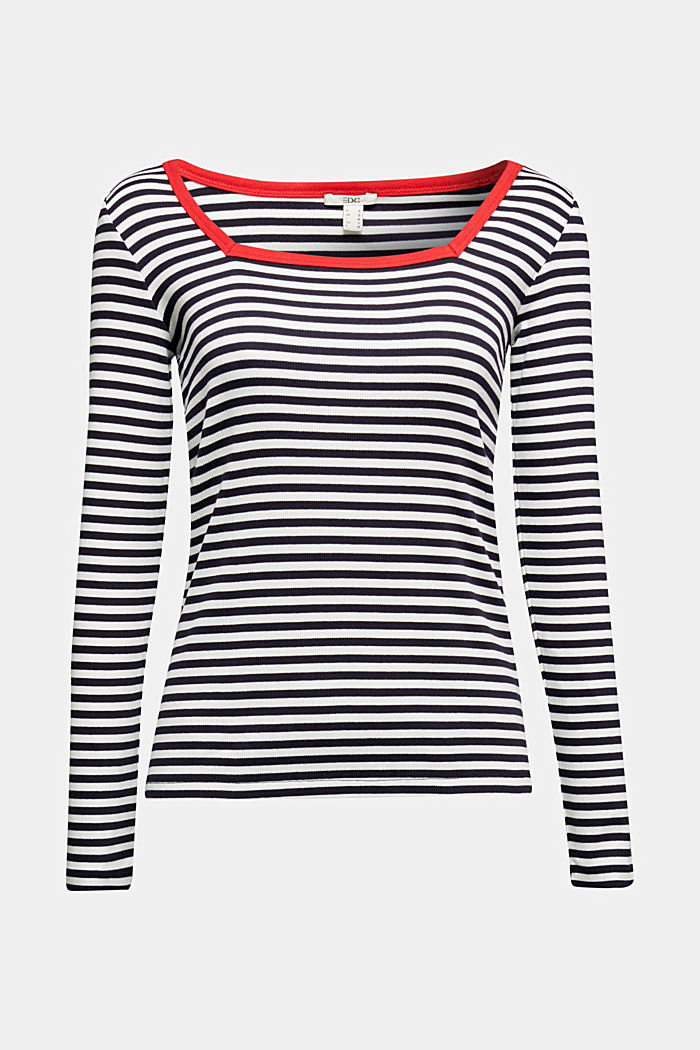 Long sleeve top with organic cotton, NAVY BLUE, detail image number 5