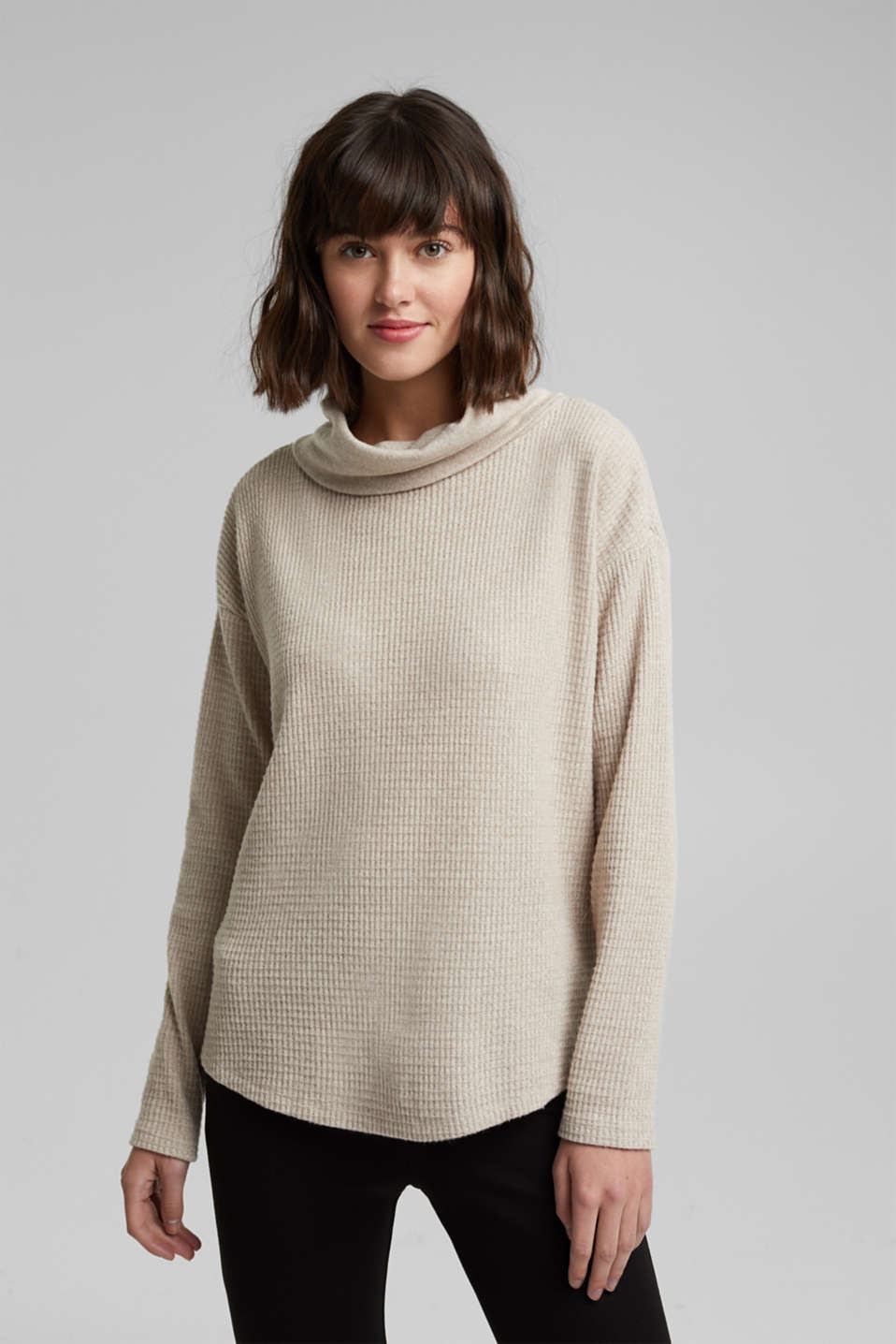 edc - recycled: softly brushed long sleeve top
