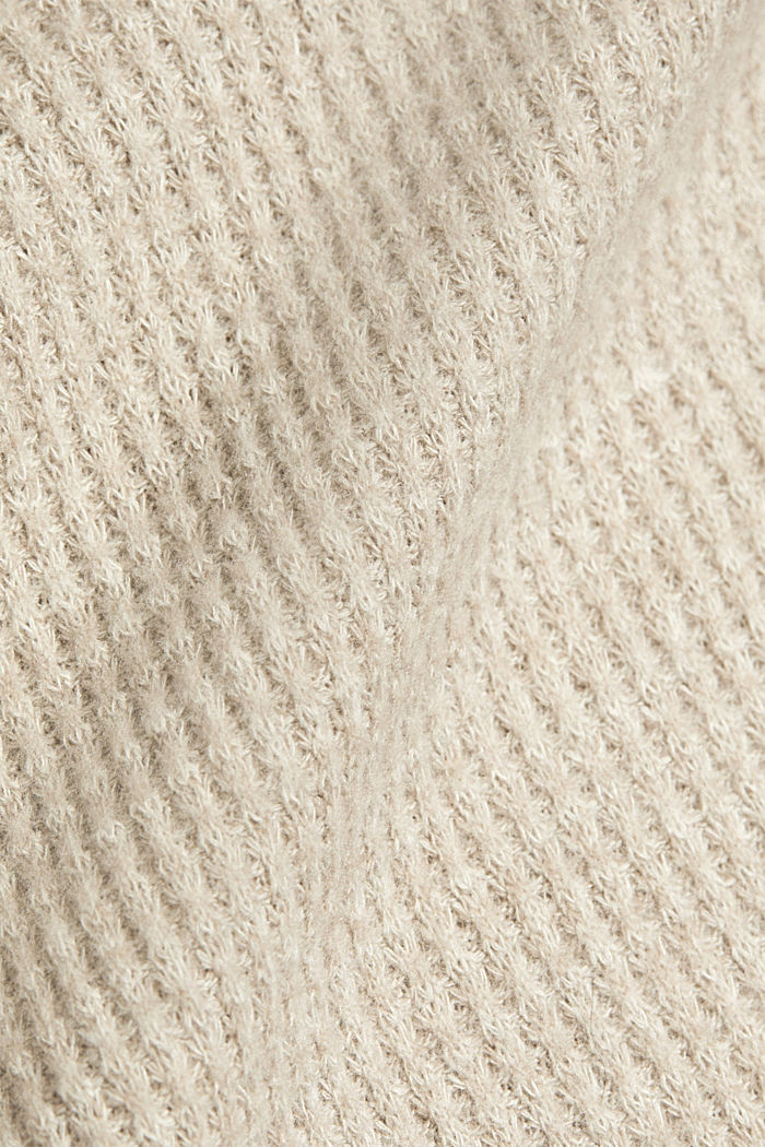 recycled: softly brushed long sleeve top, BEIGE, detail image number 4