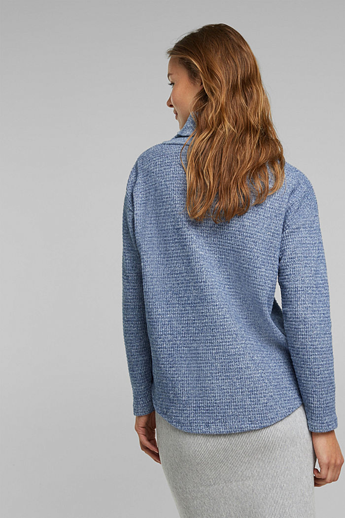 recycled: softly brushed long sleeve top, NAVY, detail image number 3
