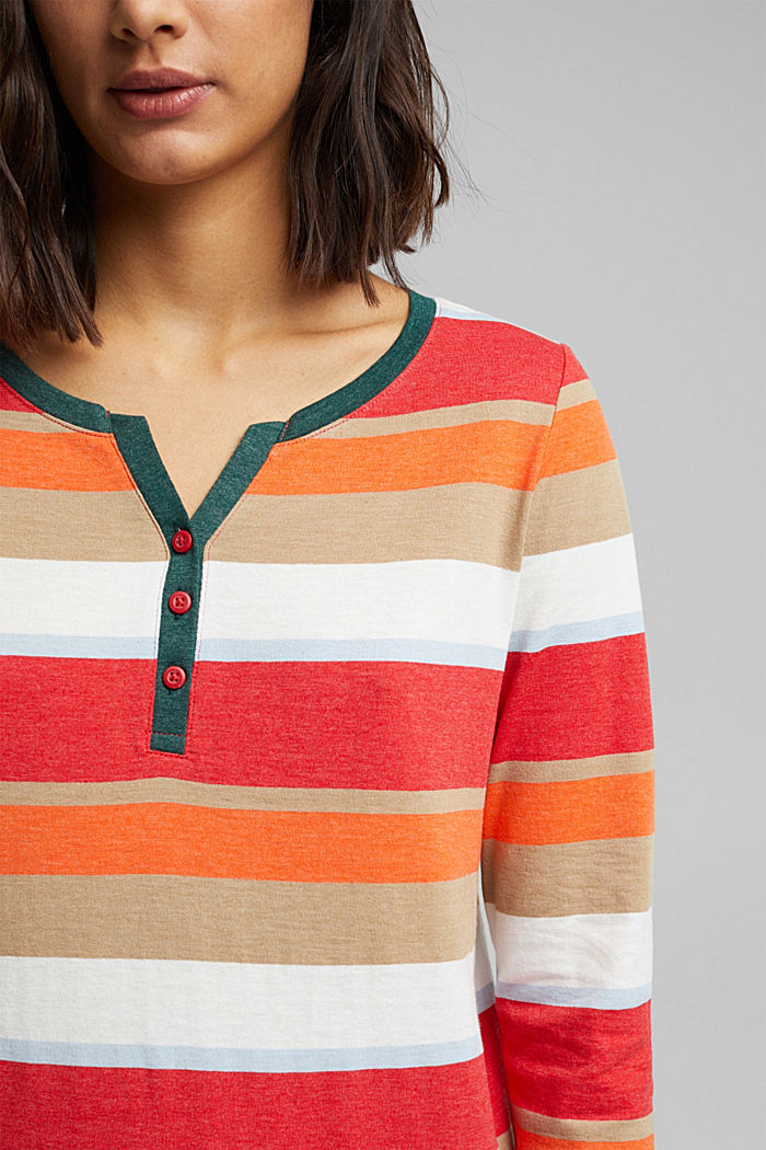 Recycled: Long sleeve top with organic cotton, RED, detail image number 2