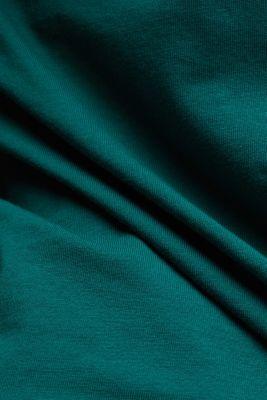 Long sleeve top made of 100% organic cotton, DARK TEAL GREEN, detail