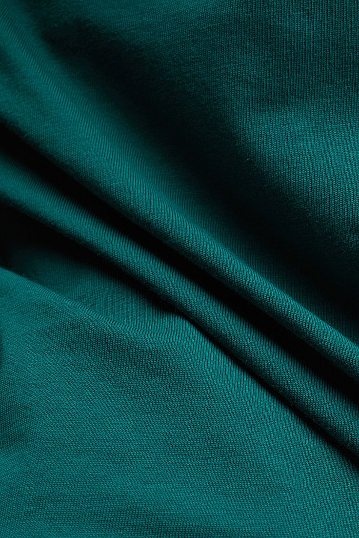 Long sleeve top made of 100% organic cotton, DARK TEAL GREEN, detail image number 4