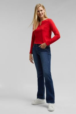Long sleeve top made of 100% organic cotton, RED, detail