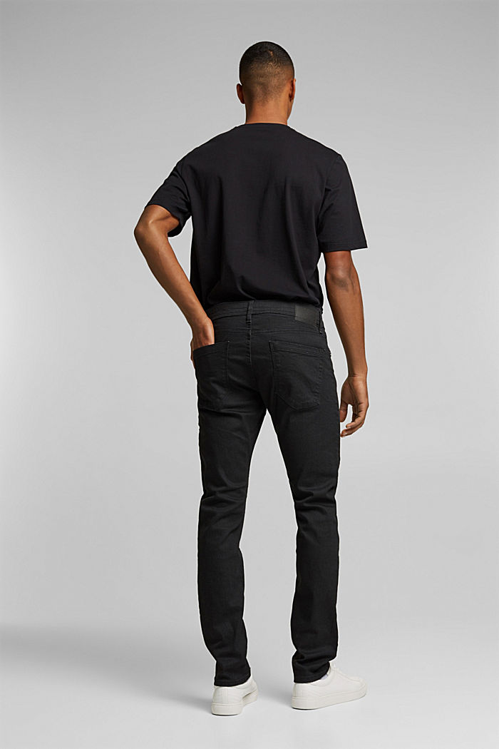 Coated organic cotton jeans with stretch, BLACK RINSE, detail image number 1