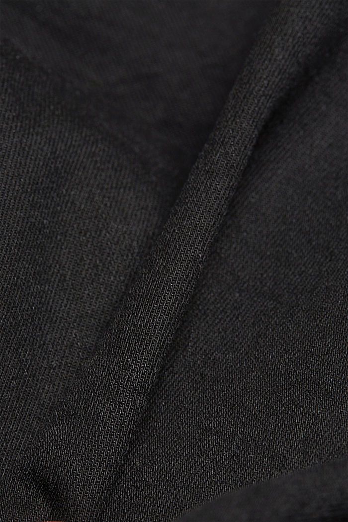 Coated organic cotton jeans with stretch, BLACK RINSE, detail image number 4
