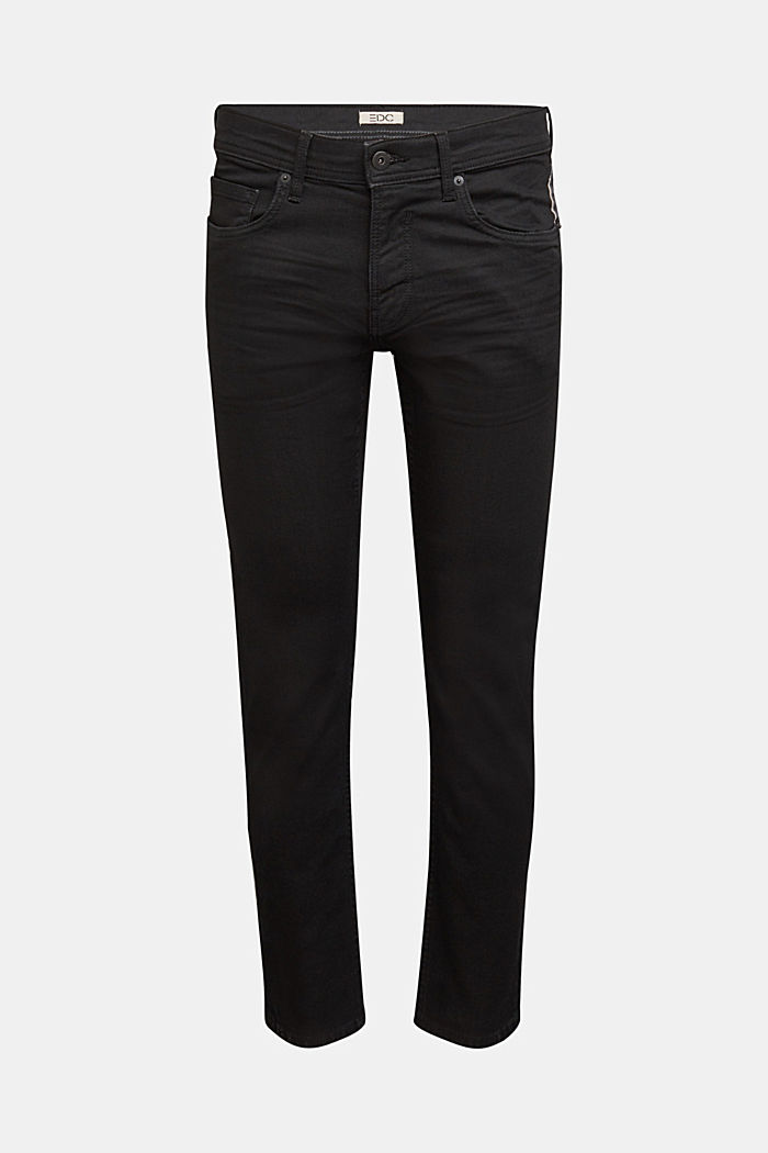 Coated organic cotton jeans with stretch, BLACK RINSE, detail image number 6