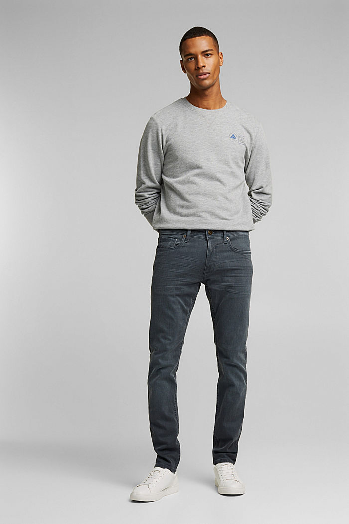 Stretch jeans containing organic cotton, GREY DARK WASHED, detail image number 4