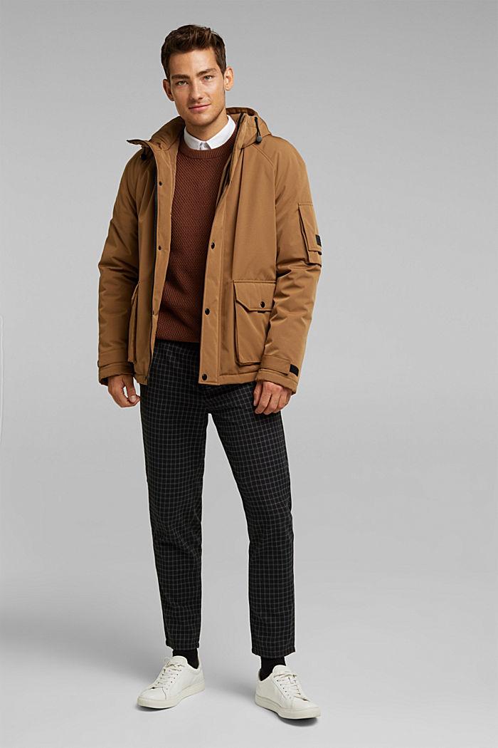 Karierte Chino mit Organic Cotton, BLACK, detail image number 1