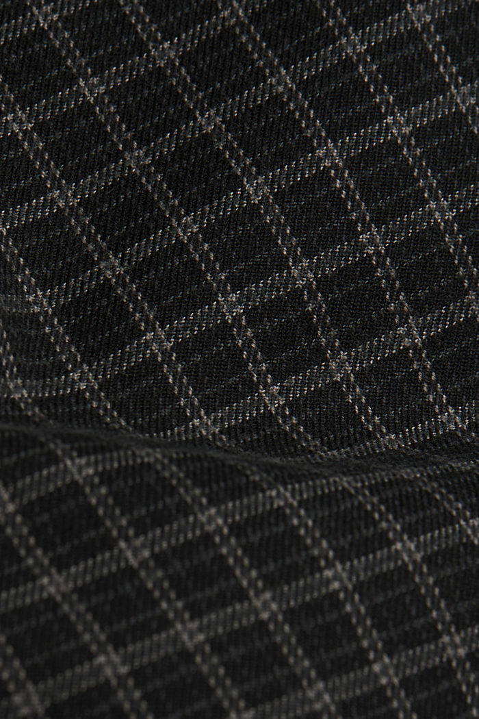 Check chinos with organic cotton, BLACK, detail image number 4