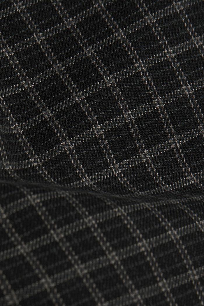 Karierte Chino mit Organic Cotton, BLACK, detail image number 4