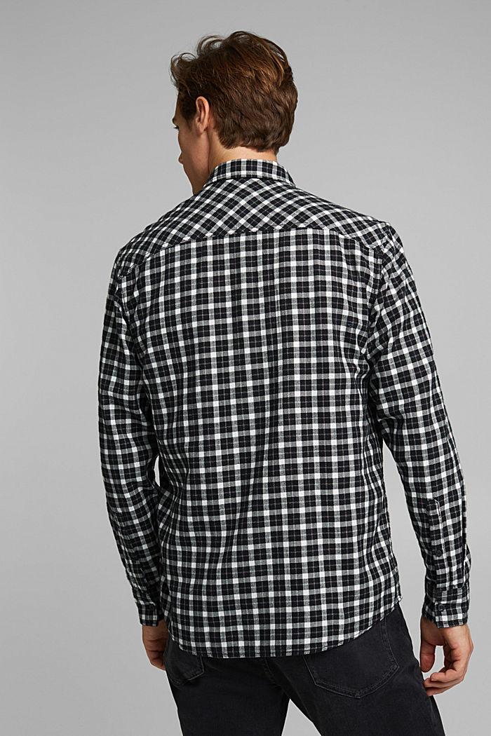 Check shirt made of 100% organic cotton, BLACK, detail image number 3