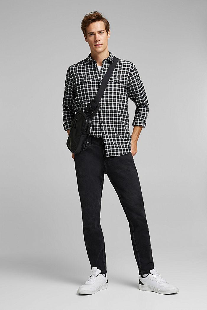 Check shirt made of 100% organic cotton, BLACK, detail image number 1