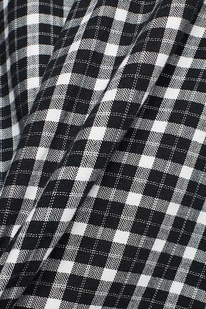 Check shirt made of 100% organic cotton, BLACK, detail image number 4