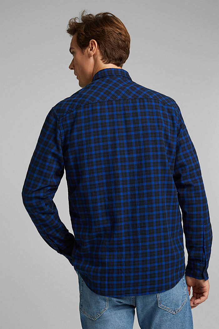 Check shirt made of 100% organic cotton, BLUE, detail image number 3
