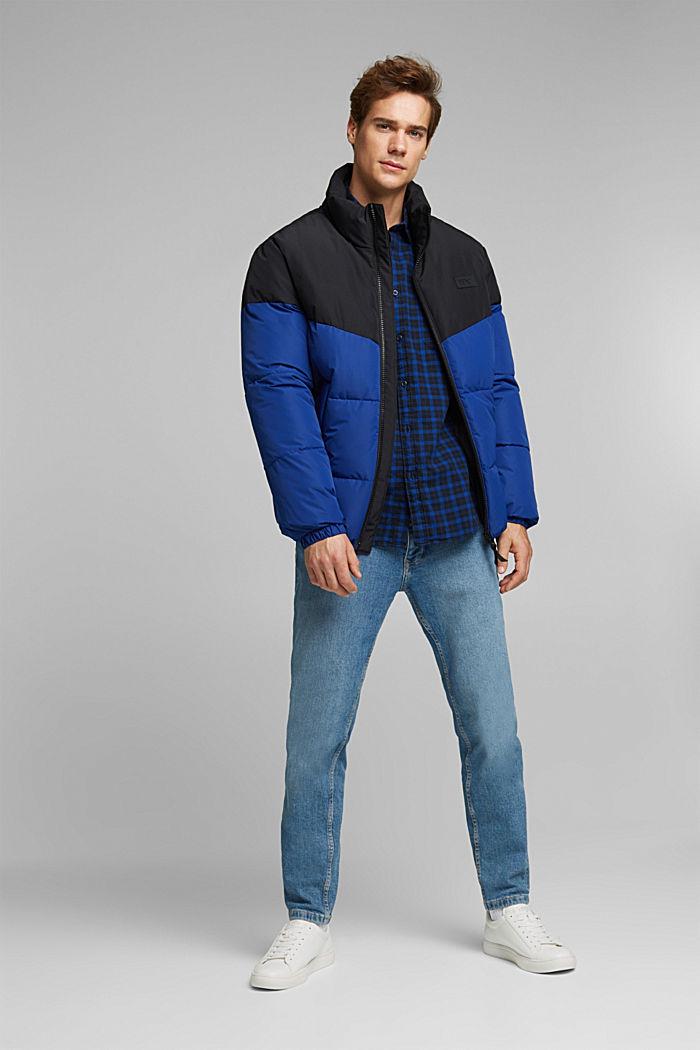 Kariertes Hemd aus 100% Organic Cotton, BLUE, detail image number 1